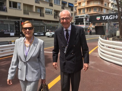 Aleardo Buzzi with his wife at the Monaco Grand Prix