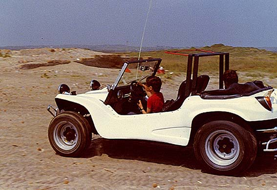 Young Pirro with the family Beach Buggy
