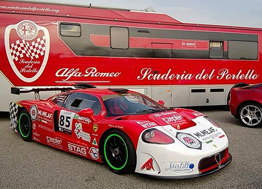 "The new Tecno-Montecarlo "" Nanni Galli "" officially launched in June at Monza. (Photo courtesy Roberto Motta)"