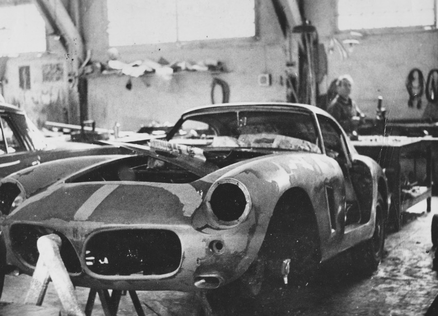 Ferrari 2231GT photographed in the Brandone workshops in Cannes, France with its new nose. (Graham Gauld Archive)
